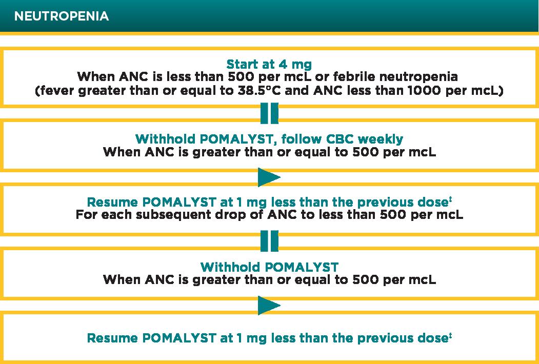 POMALYST® (pomalidomide) Neutropenia Dose Modification Chart