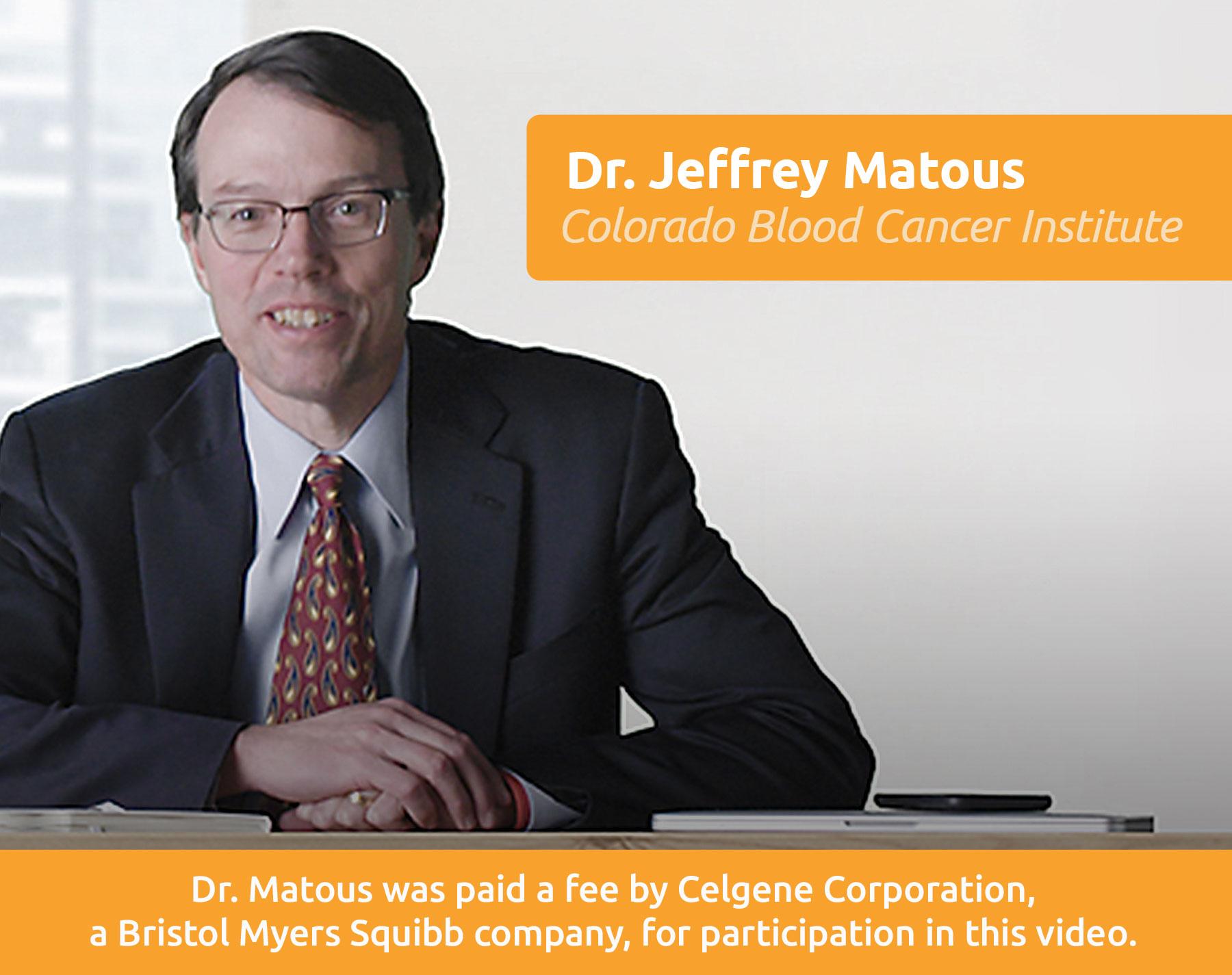 Dr. Jeffrey Matous, Colorado Blood Cancer Institute