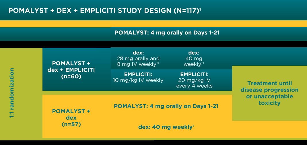 POMALYST® + dexamethasone + elotuzumab (EPd) Study Design